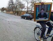 تجدید عکسهای رئیس جمهور در ترکمنستان