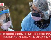 Тревожное сообщение: коронавирус в Таджикистане на утро 20 октября