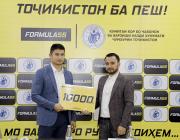 «Тоҷикистон ба пеш!» ⠀ Компания «Formula 55» наградила очередного спортсмена — боксёра Шаббоса Негматуллоева
