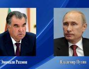Эмомали Рахмон выразил соболезнования Владимиру Путину из-за трагедии в Казани